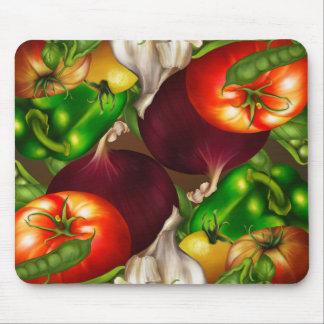 Mousepad Vegetais e alimentos frescos naturais orgânicos