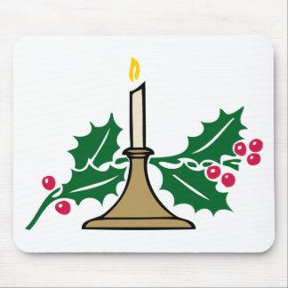 Mousepad vela e bagas do Natal