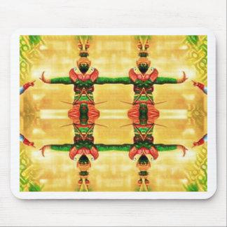 Mousepad Verde amarelo da guarda psicadélico