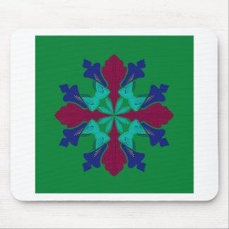 Mousepad Verde da mandala do ethno dos elementos do design