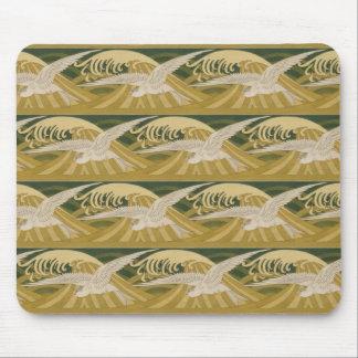 Mousepad Verde de mar do pássaro das gaivotas do oceano da