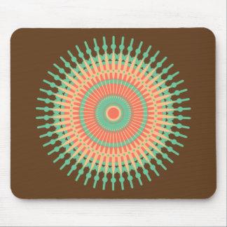 Mousepad Verde do design da mandala, indiano alaranjado