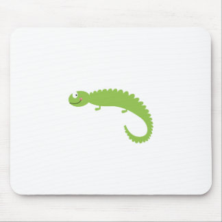 Mousepad Verde do lagarto do design no branco