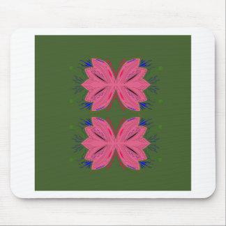 Mousepad Verde do rosa dos elementos do design