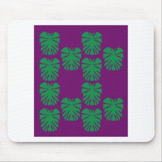 Mousepad Verde exótico do eco das folhas do design