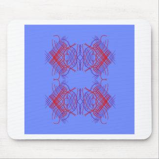 Mousepad Vermelho azul da mandala do design