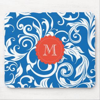 Mousepad Vermelho bonito do papel de parede floral do