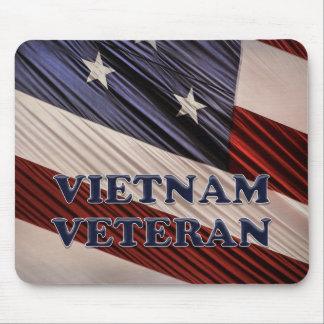 Mousepad Veterano patriótico militar de Vietnam da bandeira