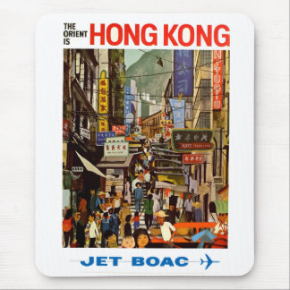 Mousepad Viagem de Hong Kong China da linha aérea do