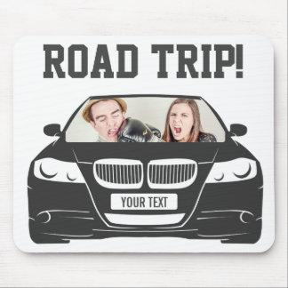 Mousepad Viagem por estrada feita sob encomenda engraçada