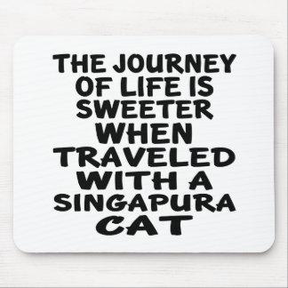 Mousepad Viajado com gato de Singapura