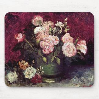Mousepad Vincent van Gogh - bacia com peônias & rosas