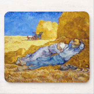 Mousepad Vincent van Gogh - resto do meio-dia do trabalho -