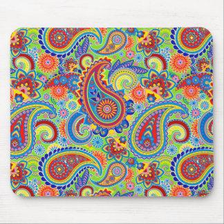 Mousepad Vintage colorido Paisley floral ornamentado