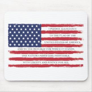 Mousepad Vintage da garantia da bandeira americana
