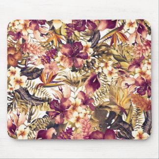 Mousepad Vintage elegante dos trópicos dourados havaianos