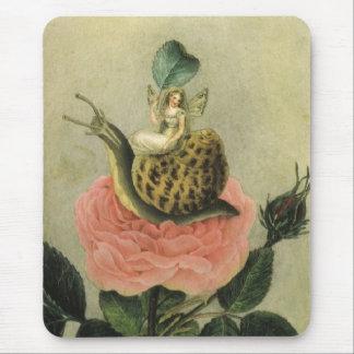 Mousepad Vintage - fada em um jardim,