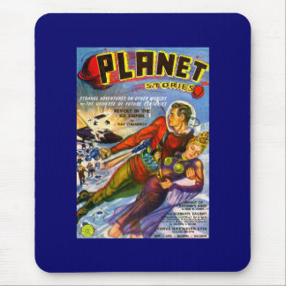 Mousepad Vintage Sci Fi das histórias do planeta cómico