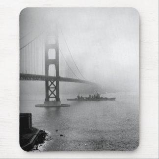 Mousepad Vintage USS San Francisco golden gate bridge