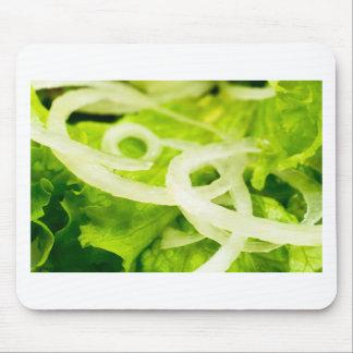 Mousepad Vista macro das folhas do anel da alface e de
