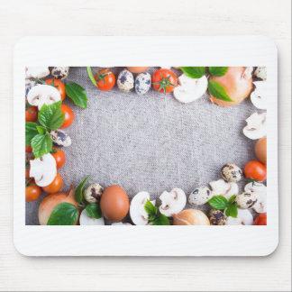 Mousepad Vista superior dos ingredientes de comida no