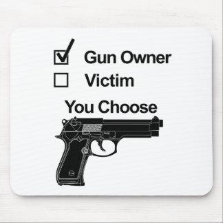 Mousepad vítima que do proprietário de arma você escolhe