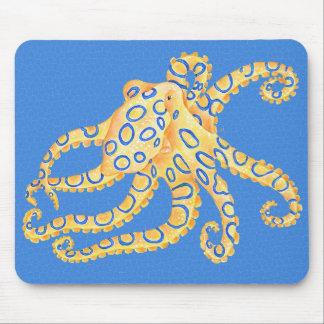 Mousepad Vitral azul do polvo