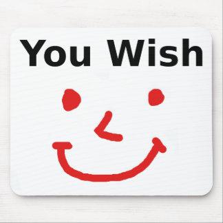 """Mousepad """"Você desejo"""" com smiley face vermelho"""