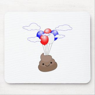 Mousepad Vôo de Poo Emoji com balões