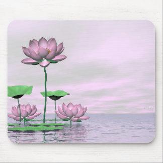 Mousepad Waterlilies e flores de lótus cor-de-rosa - 3D
