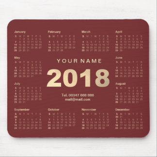 Mousepad Web 2018 do contato do nome do ouro de Borgonha do