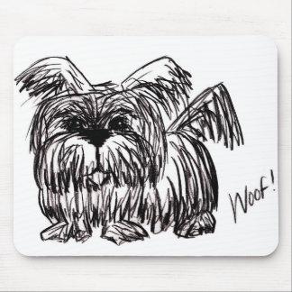 Mousepad Woof um cão do espanador de poeira