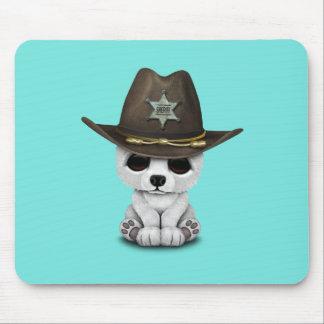 Mousepad Xerife bonito de Cub de urso polar do bebê