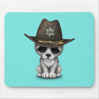 Mousepad Xerife bonito do lobo do bebê