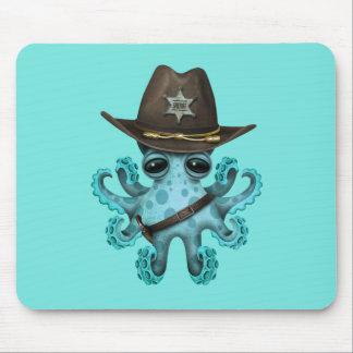 Mousepad Xerife bonito do polvo do bebê azul