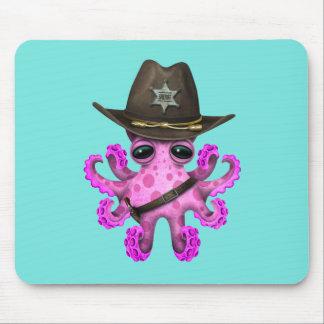 Mousepad Xerife cor-de-rosa bonito do polvo do bebê