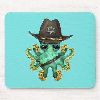 Mousepad Xerife verde bonito do polvo do bebê