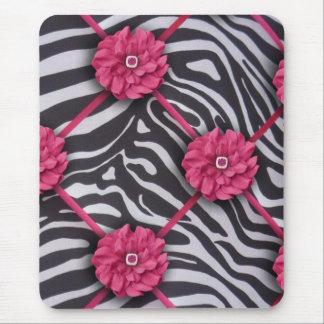 Mousepad Zebra cor-de-rosa da flor