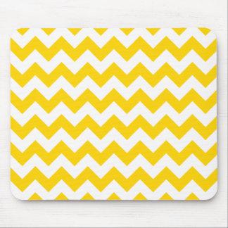 Mousepad Ziguezague amarelo de Chevron do Freesia