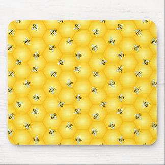 Mousepad Zumbir Bumble abelhas e o teste padrão dourado do
