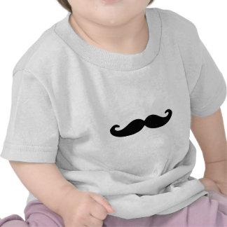 Moustache bigode pretos do guiador tshirts