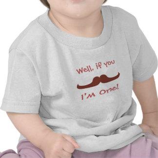 Moustache bonito, eu sou um, primeiro aniversário camisetas