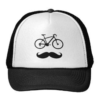 moustache preto da bicicleta boné