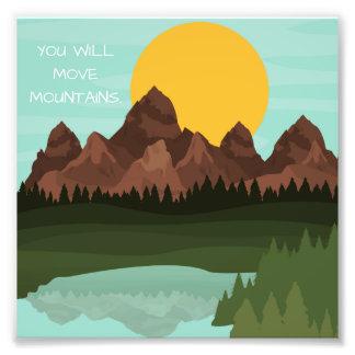 Mova a arte da parede da foto 6x6 das montanhas