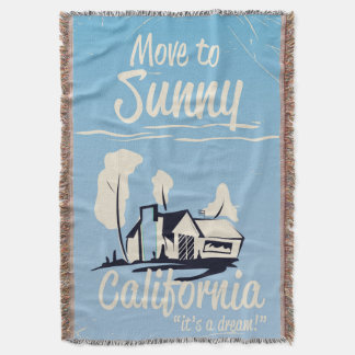 Mova-se para o poster vintage ensolarado de manta