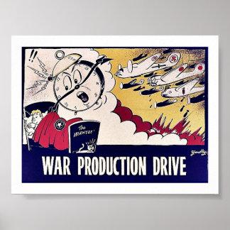 Movimentação da produção da guerra poster