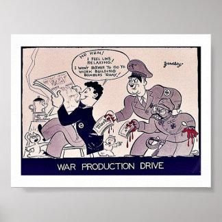 Movimentação da produção da guerra posters