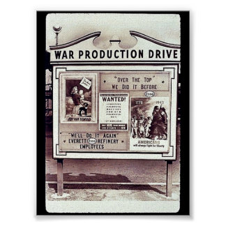 Movimentação da produção da guerra pôsteres