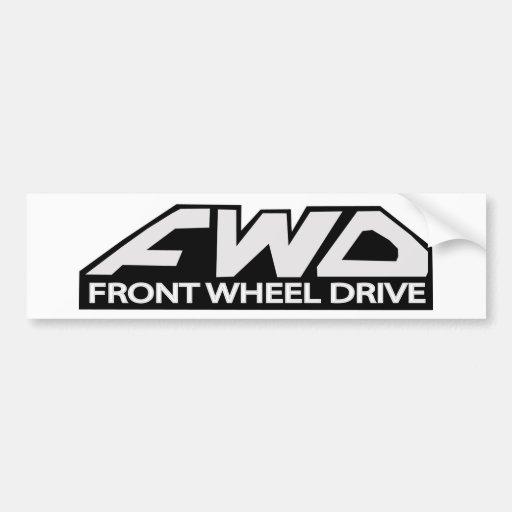 Movimentação de roda dianteira do FWD Adesivos
