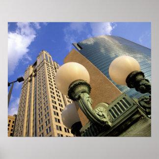 Movimentação de Wacker, arranha-céus, prédio de es Pôsteres